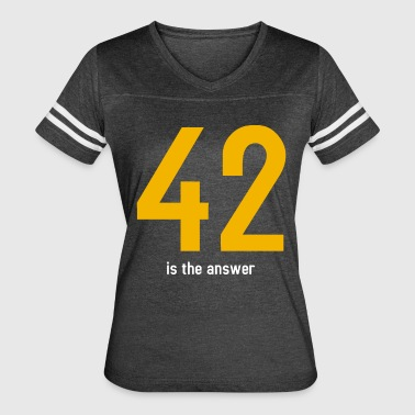 Answer 42 The answer is 42 - Women's Vintage Sport T-Shirt