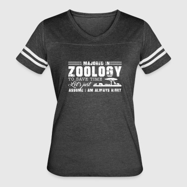 I Majored In Zoology Shirt - Women's Vintage Sport T-Shirt