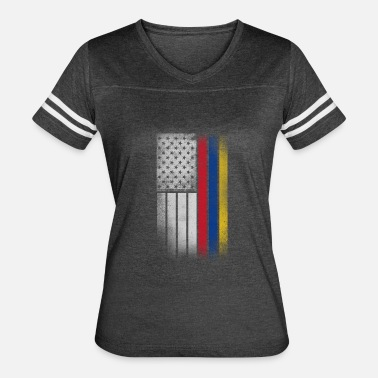 Colombian Flag Colombian American Flag - Women's Vintage Sport T-Shirt