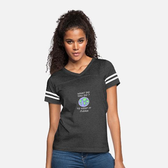 Social T-Shirts - Ecology Awareness Climate Eco-friendly - Women's Vintage Sport T-Shirt vintage smoke/white