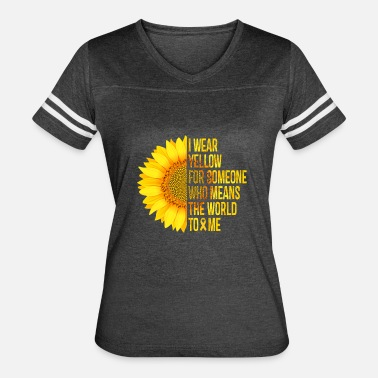 Spina Bifida I Wear Yellow - Yellow Sunflower Awareness Ribbon - Women's Vintage Sport T-Shirt