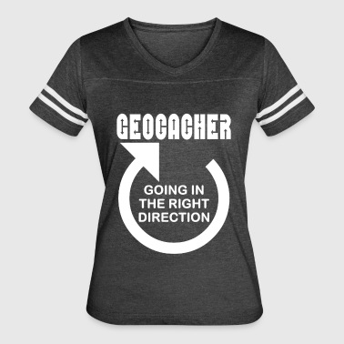Geocacher Right Direction White Text - Women's Vintage Sport T-Shirt