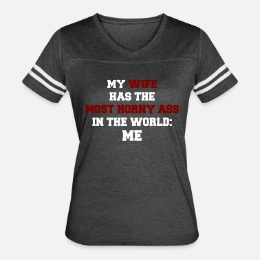 Horny Red horny ace in the world - white / red - Women's Vintage Sport T-Shirt
