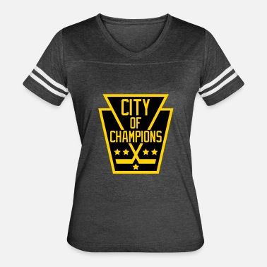 City Of Champions City of Champions - Black and Gold - Women's Vintage Sport T-Shirt