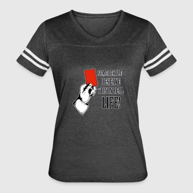 Red card funny designs - Women's Vintage Sport T-Shirt