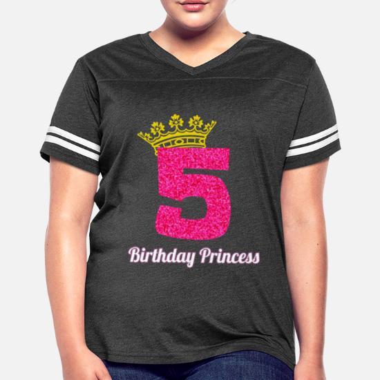 43dd878a751c 5th Birthday Design for Girl Princess Crown Pink Glitter Women's ...