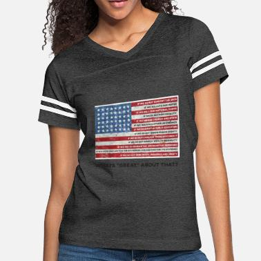 Human Values American Values Flag - Women's Vintage Sport T-Shirt