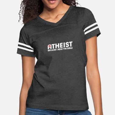 7fea36cf Atheist Bible ATHEIST BIBLE LIES GOD SINNER AGNOSTIC HUMANIST AT -  Women's. Women's Vintage Sport T-Shirt