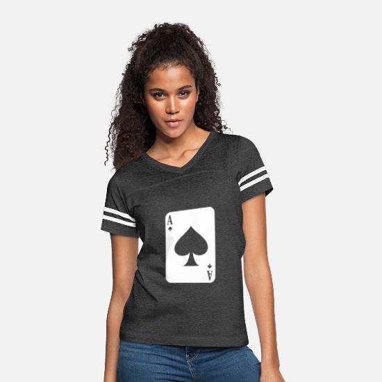 Ace T-Shirts - Ace Of Spades - Women's Vintage Sport T-Shirt vintage smoke/white
