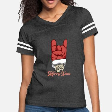 Ugly Christmas Merry Xmas. Let's rock - Women's Vintage Sport T-Shirt