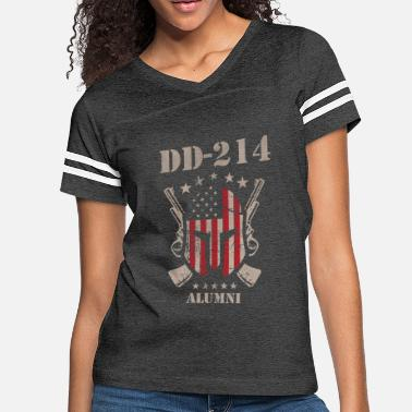 Dd-214 DD-214 US Armed Force Alumni American Flag Veteran - Women's Vintage Sport T-Shirt