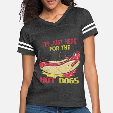 Mustard Here For The Hot Dogs Funny Sausage Chilling Gift - Women's Vintage Sport T-Shirt