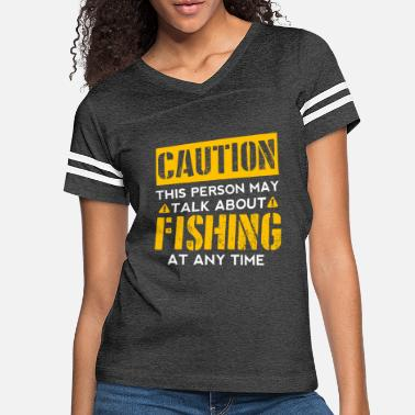 Fishing Fan CAUTION - Fishing Fan - Women's Vintage Sport T-Shirt