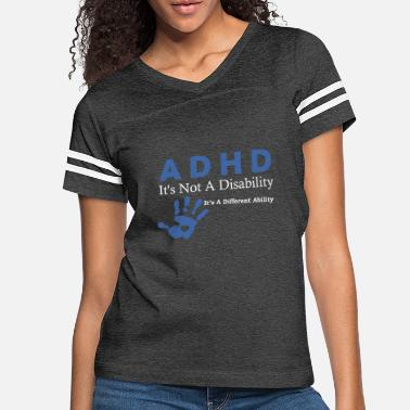 Attention Attention Deficit Disorder ADHD Awarenesss Design - Women's Vintage Sport T-Shirt