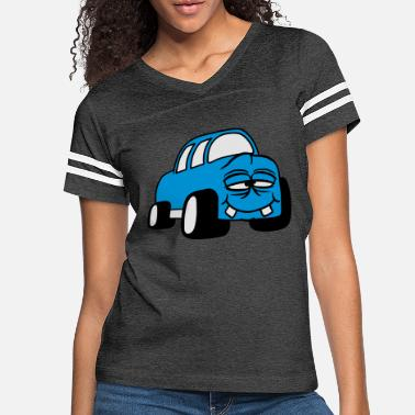 Cartoon funny grin alive face comic cartoon car fast race - Women's Vintage Sport T-Shirt
