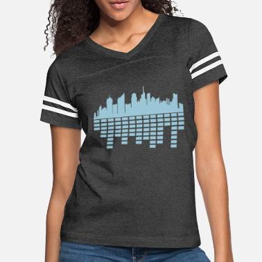 World Metropolis party city music sound loud metropolis silhouette - Women's Vintage Sport T-Shirt