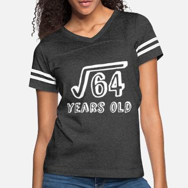Square Square Root of 64 Years Old (8th birthday) - Women's Vintage Sport T-Shirt