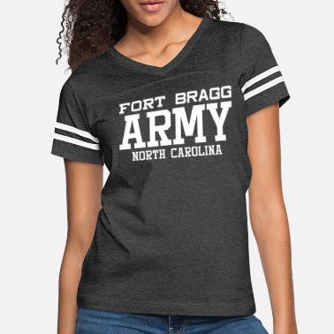 Fort Bragg US Army Fort Bragg North Carolina Military Center - Women's Vintage Sport T-Shirt