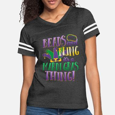 Mardi Gras Beads and Bling It's a Mardi Gras Thing Nola New - Women's Vintage Sport T-Shirt