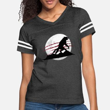 Halloween Full Moon Werewolf | Funny Retro Halloween Design - Women's Vintage Sport T-Shirt