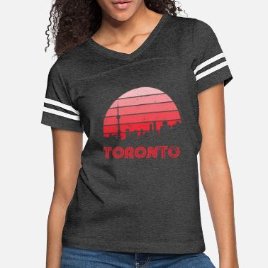 Retro Retro Sunset Toronto - Women's Vintage Sport T-Shirt