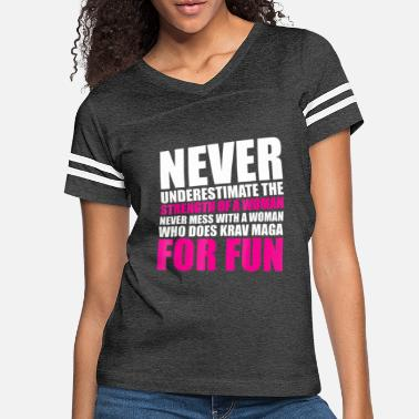 Never Mess with Woman who Does Krav Maga - Women's Vintage Sport T-Shirt