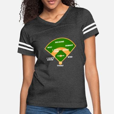 Cards Who's on First? Baseball Diamond Fielding Card - Women's Vintage Sport T-Shirt