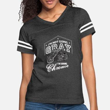 Grey Motorcycle Tshirt for Biker Gift Idea - Women's Vintage Sport T-Shirt
