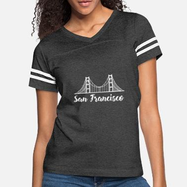 Golden Gate san francisco golden gate bridge construction love - Women's Vintage Sport T-Shirt