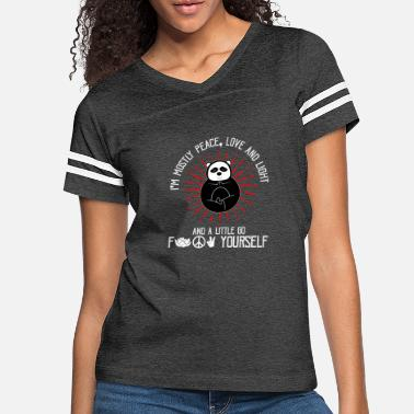 Im Mostly Im Mostly Peace Love And Light Panda Meditation - Women's Vintage Sport T-Shirt