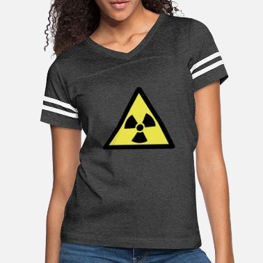 Nuclear Radioactive Warning Symbol - Women's Vintage Sport T-Shirt