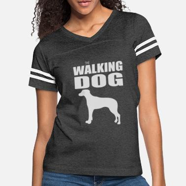 Dog-walking THE WALKING DOG - Women's Vintage Sport T-Shirt