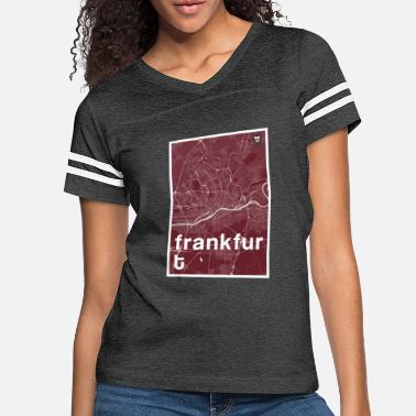 Frankfurt Frankfurt hipster city map red - Women's Vintage Sport T-Shirt