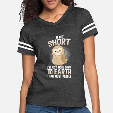 Short Earth Down To Earth Owl Funny Gift - Women's Vintage Sport T-Shirt