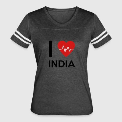 I Love India - Women's Vintage Sport T-Shirt