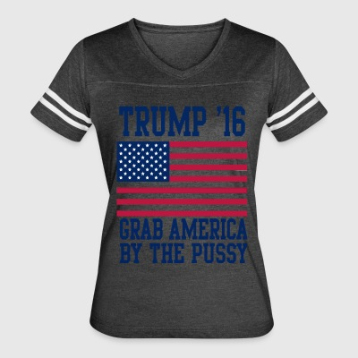 Trump '16 Grab america by the pussy - Women's Vintage Sport T-Shirt