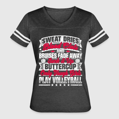 Volleyball Girls: Only Tough Girls Play Volleyball - Women's Vintage Sport T-Shirt