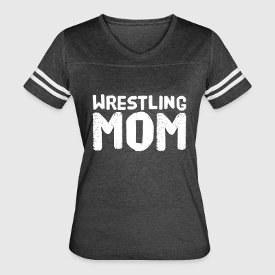 wrestling mom - Women's Vintage Sport T-Shirt