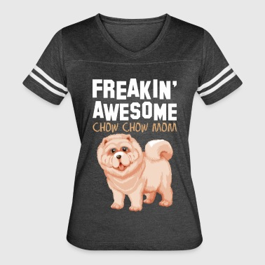 Freaking Awesome Chow Chow Mom - Women's Vintage Sport T-Shirt