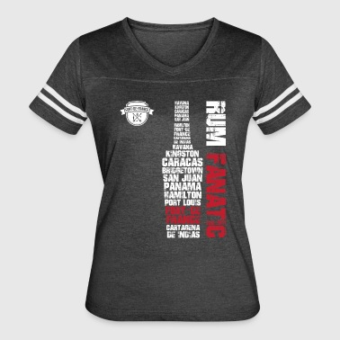 Rum Fanatic T-shirt - Fort-de-France, Martinique - Women's Vintage Sport T-Shirt