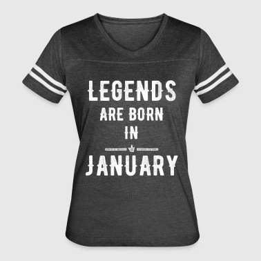Legends are born in january - Women's Vintage Sport T-Shirt