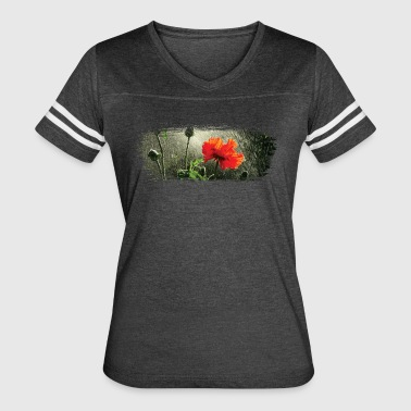 Poppies in the rain paint stroke - Women's Vintage Sport T-Shirt