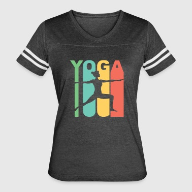 Vintage Style Warrior Two Yoga Pose Silhouette - Women's Vintage Sport T-Shirt