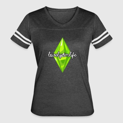 lovelysimlife Logo - Women's Vintage Sport T-Shirt