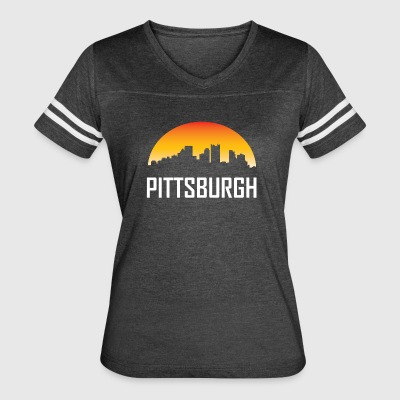 Pittsburgh Pennsylvania Sunset Skyline - Women's Vintage Sport T-Shirt