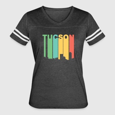Retro 1970's Style Tucson Arizona Skyline - Women's Vintage Sport T-Shirt