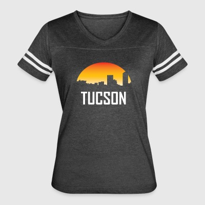 Tucson Arizona Sunset Skyline - Women's Vintage Sport T-Shirt