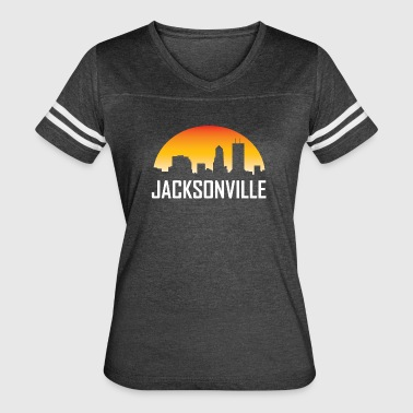 Jacksonville Florida Sunset Skyline - Women's Vintage Sport T-Shirt