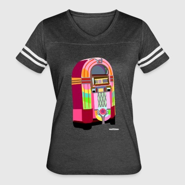 Fun Neon Jukebox - Women's Vintage Sport T-Shirt