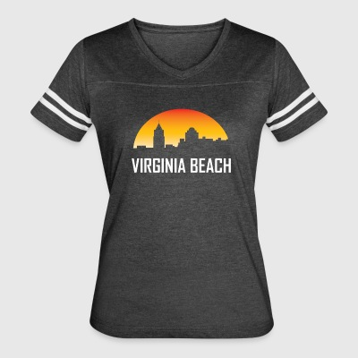 Virginia Beach Virginia Sunset Skyline - Women's Vintage Sport T-Shirt